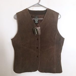 Outbrook Womens Brown Suede Leather Vest M 8/10
